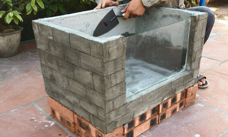 How to Make a Cement Fish Tank at Home?